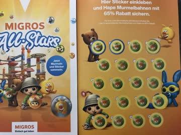 Migros All Stars volle Sammelkarte