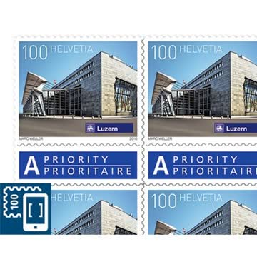10 ×1 fr Briefmarken neu