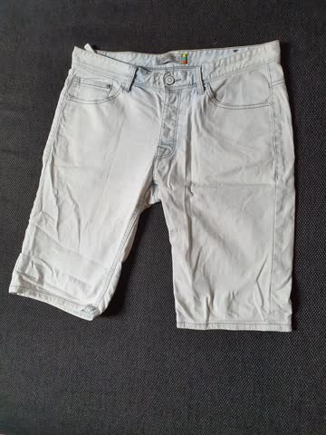 Jeans Shorts, ClockHouse Denimite (White/Weiss)