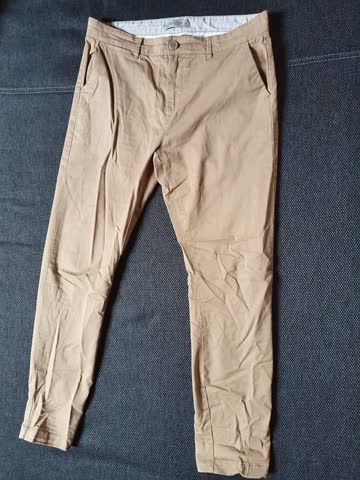 Beige Jeans, Clock House Flatomic, C&A, Slim Fit