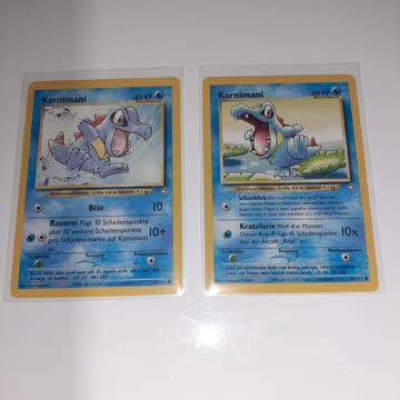 2x (vers.) Karnimani Pokémonkarten aus Neo Genesis Jahr 2001