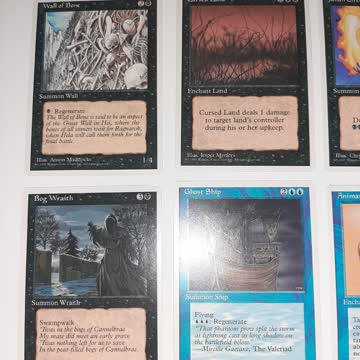 10x verschiedene alte magic the gathering Karten