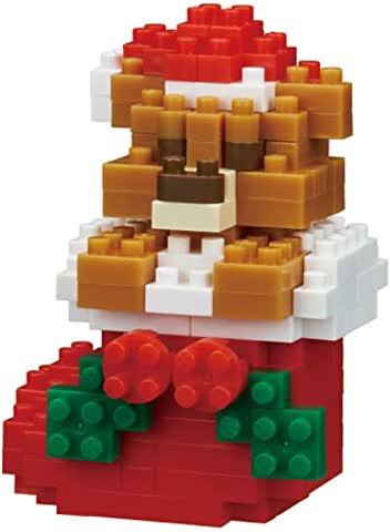 Nanoblock NBC235 Teddybär mit Weihnachtsstrumpf-Spielzeug