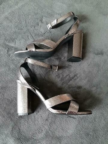 High Heels Gr.42 silber