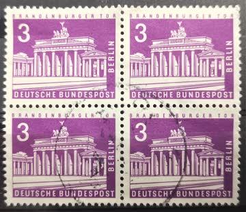1963 Berliner Stadtbilder Viererblock MiNr: 231