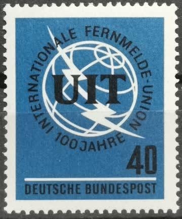 1965 int. Fernmeldeunion UIT postfrisch** MiNr: 476