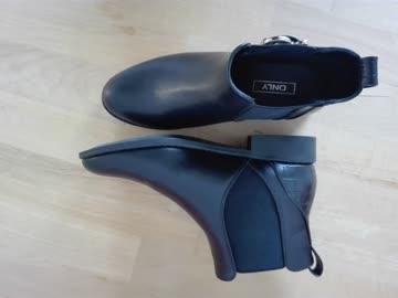 schwarze Ankle Boots Gr. 37