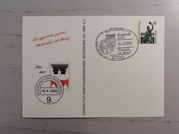 1989 Würzburger Briefmarkenbörse in der Carl-Diem-Halle