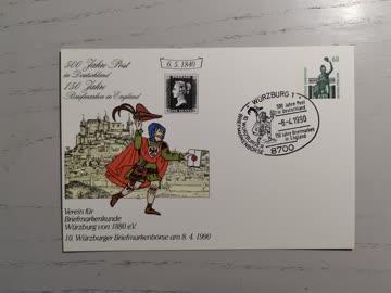 1990 10.Würzburger Briefmarkenbörse