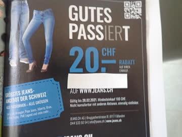Gutschein Jeans.ch, 20.- CHF Rabatt