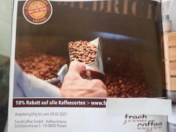 Gutschein fresh coffee, 10% Rabatt