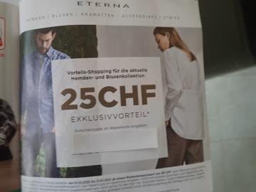 Gutschein Eterna Mode, CHF 25.-