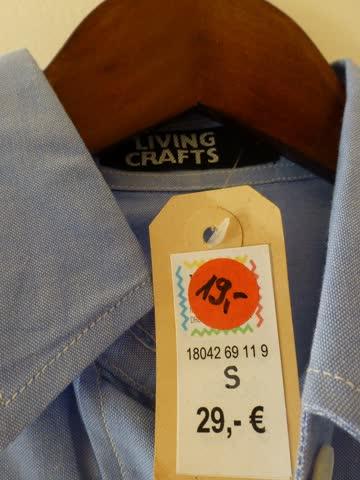 Damen Bluse kurzarm Bio Baumwolle Gr. S NEU Wert: 29€