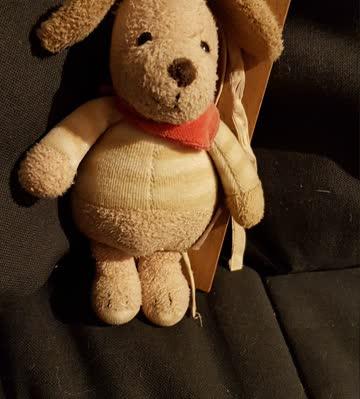 Kleine Musikdose Hund Plüsch ca. 15cm