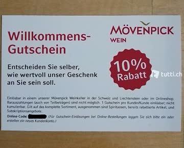 Mövenpick Weine 10% Rabatt Onlineshop
