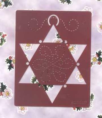 Stickschablone Weihnachtsstern (6001.0077)
