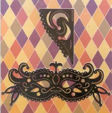 Stickschablone venezianische Maske, Eckschablone (6001.0114)