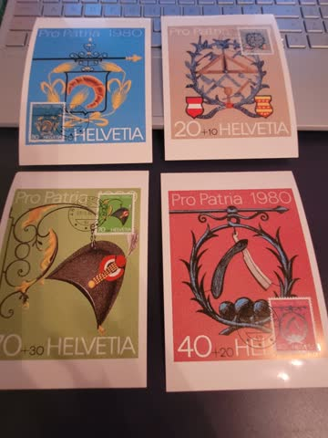 Maxipostkarten Pro Patria 1980