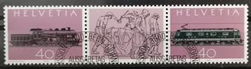 1982 100 Jahre Gotthard ET-Stempel MiNr: 1214-1215