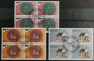 1982 Stanser Verkommnis Werbemarken Viererblock ET-Stempel M