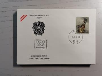1980 FDC Moderne Kunst in Österreich MiNr: 1655