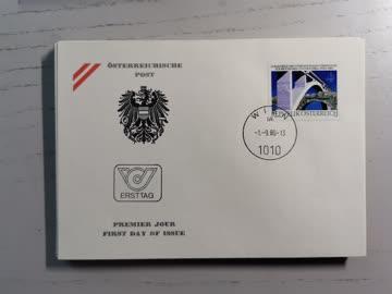 1980 FDC Kongress Int. Brücken & Holzbau MiNr: 1653