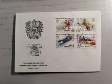 1975 FDC Winter Olympia Innsbruck MiNr: 1499 - 1502