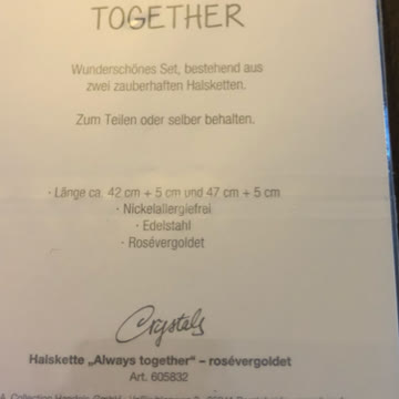 Always Togerher Halskette 2-er Set NEU🎁