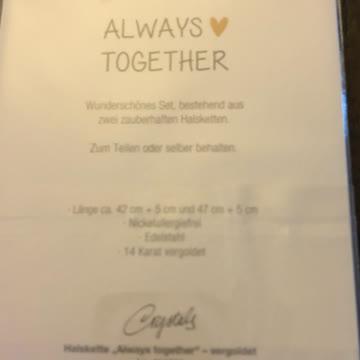 Always Together Halskette goldig Neu🎁
