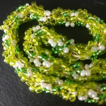 33cm Rocailles Halskette (grün)