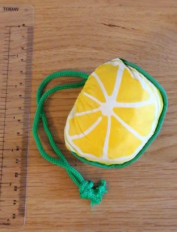 Plastiktasche Zitrone