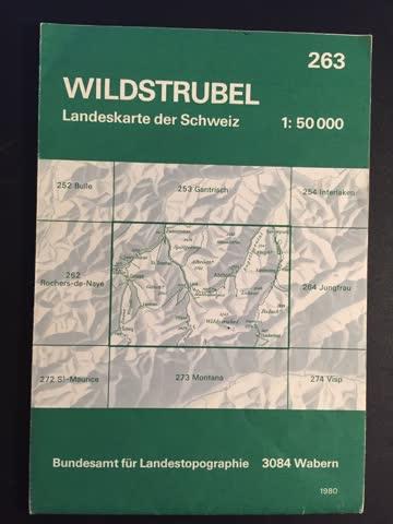 """Land-Karte """"Wildstrubel"""" 1:50'000"""