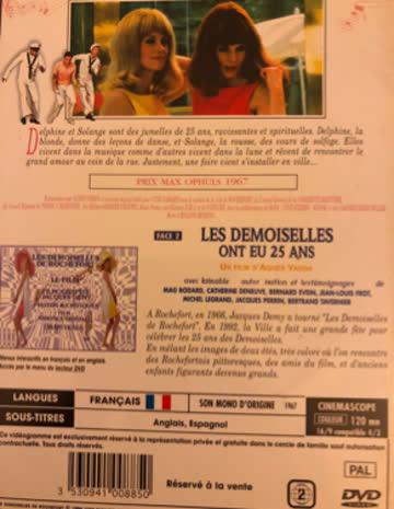 LES DEMOISELLES ROCHEFORT Catherine Deneuve DVD