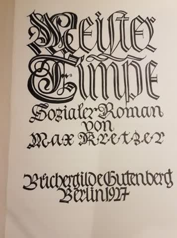 Meister Timpe, Buch, 1927