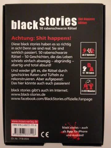 """Black Stories """" Shit Happens Edition"""""""