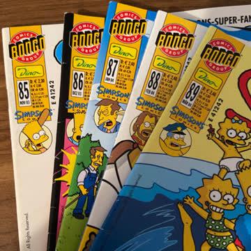 5x Simpsons Comics (Nr. 85-89)