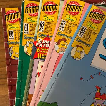 5x Simpsons Comics (Nr. 60-64)