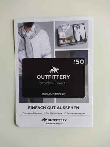 Outfittery CHF 50.– Gutschein
