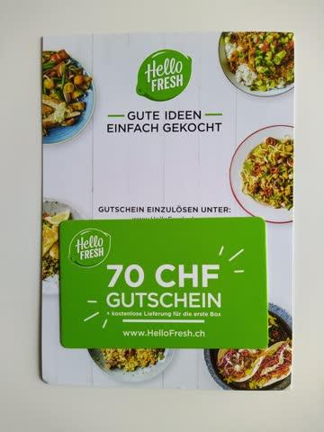 Hello Fresh Gutschein CHF 70.–