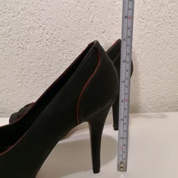 High Heels schwarz mit rot, Graceland Gr. 40