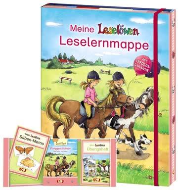 Meine Leselöwen-Leselernmappe (Pony), 3 Bde.