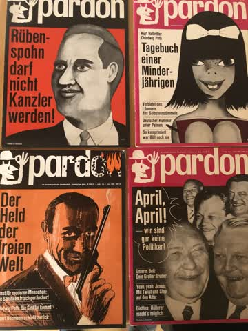 4 Hefte der Satirezeitschrift Pardon