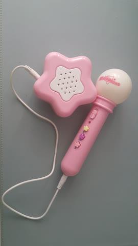Kinder Mikrofon mit Lautsprecher und Gürtelklipp