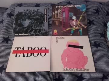 4 rare Schweizer LPs (Taboo, Touch El Arab, Tickets, Whitney