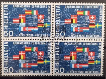 1966 Flaggen der CERN Staaten Viererblock MiNr: 835