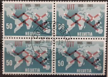 1965 Fernmeldeverbindung Viererblock MiNr: 811