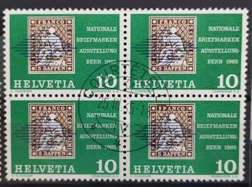 1965 Nationale Briefmarkenausstellung Bern Viererblock MiNr: