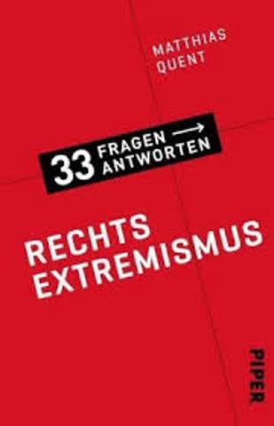 Rechtsextremismus - 33 Fragen, 33 Antworten