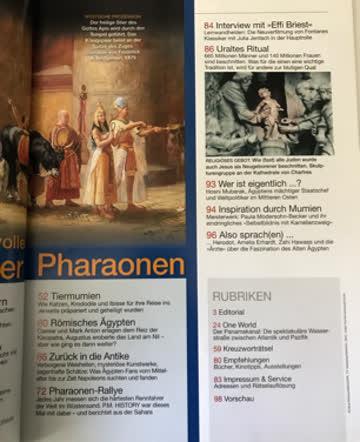 P.M. PM History Ägypten Pharao Mumie Ramses Karneval Venedig