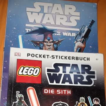 Star Wars Comic plus Stickerheft.